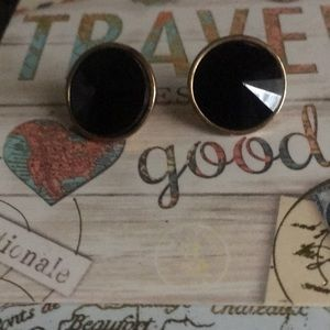 Black fashion earrings.